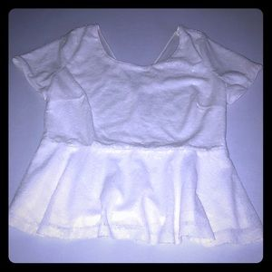 NWT Forever 21 White sequence baby doll top 1X